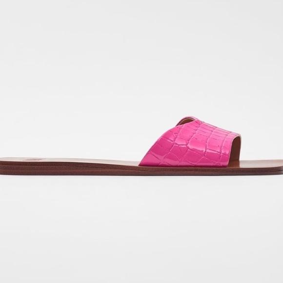 Zara croc slides